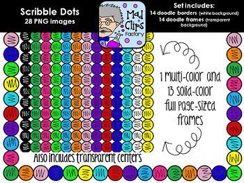Scribble Dot Frames {Colorful Set}