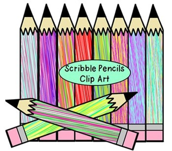 Scribble Pencils Clip Art