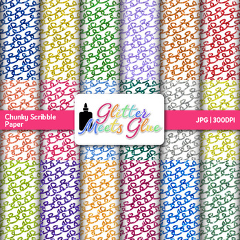 Chunky Loops Scribble Paper {Scrapbook Backgrounds for Tas