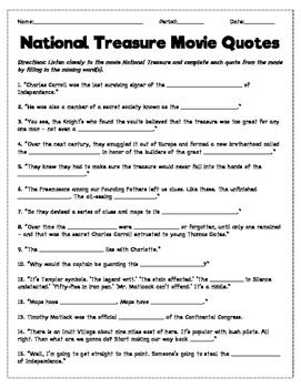 National Treasure Movie Quotes