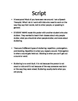 Script for Stuttering Class Presentation