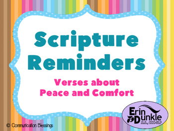 Scripture Posters: Verses About Peace and Comfort