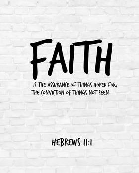 Scripture Print, Bible verse printable , Hebrews 11:1 insp