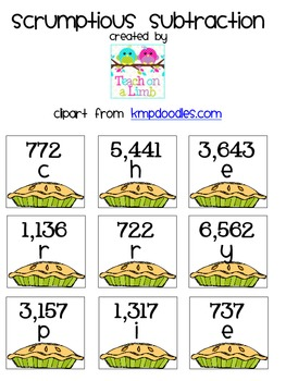 Scrumptious Subtraction