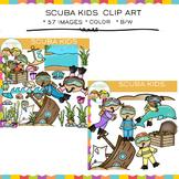 Little Shorties Scuba Kids Clip Art