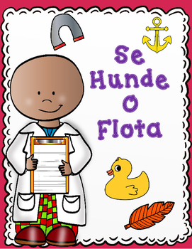 Se Hunde o Flota:  Actividades para Kindergarten