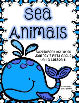 Sea Animals 1st Grade 2012 Supplement Activities Lesson 11
