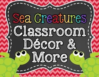 Sea Creatures Classroom Decor and More!