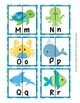 Sea Creatures Letter Match Puzzles