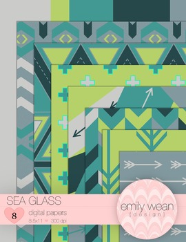 Sea Glass - Digital Papers