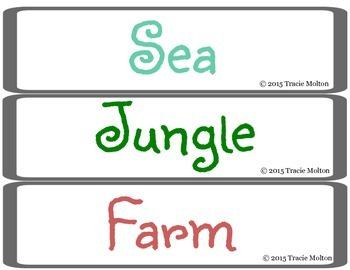 Sea, Jungle, and Farm Sort
