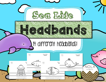 Sea Life Headbands- Traceable- No Prep!