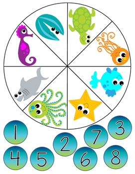Sea Life Spinner for Groups/Centers