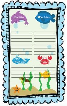 Sea Life Transportation Chart