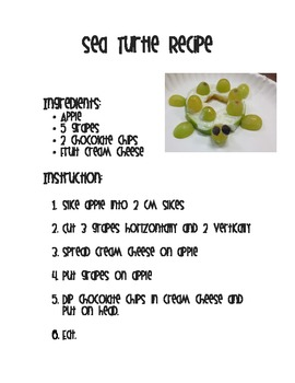 Sea Turtle Recipe