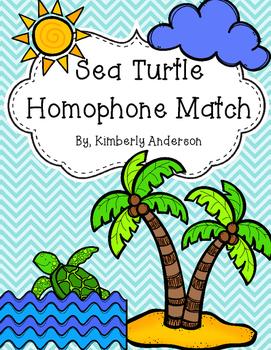 Sea Turtle - Summertime Homophones Match