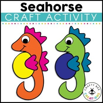 Seahorse Cut and Paste