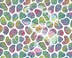 Seamless Glitter Animal Prints in Bright Rainbow Colors Di