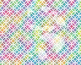 Seamless Watercolor Geometrics in Bright Rainbow Colors Di