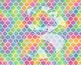 Seamless Watercolor Pattern Set #1 in Bright Rainbow Color