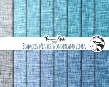 Seamless Winter Wonderland Linen Digital Paper Set