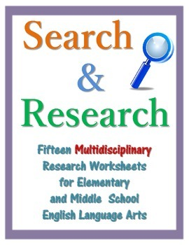 Search & Research - 15 Multidisciplinary Research Worksheets