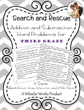 Search and Rescue Addition and Subtraction Word Problems f