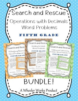 Search and Rescue Bundle: Operations with Decimals for Fif
