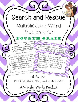 Search and Rescue: Multiplication Word Problems (4.NBT.B.5