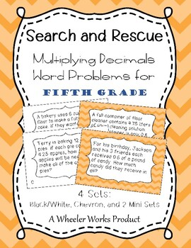 Search and Rescue: Multiplying Decimals Word Problems for