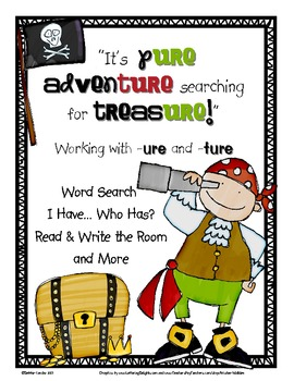 Search for Treasure: Word Work and Games for -ure and -ture