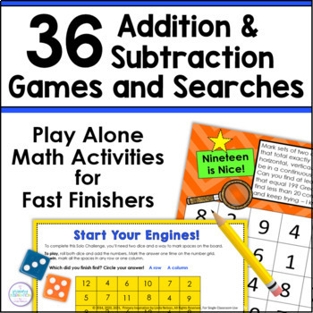 Addition with Sums 10-20 ~ Searching for Sums