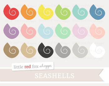 Seashell Clipart; Beach, Shell