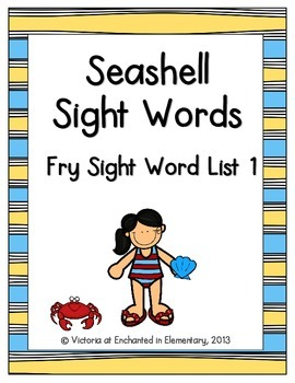 Seashell Sight Words! Fry List 1