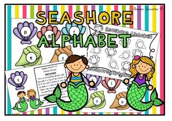 Seashore Alphabet Game - US Font
