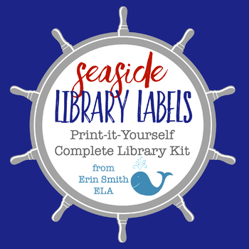Seaside Library Labels