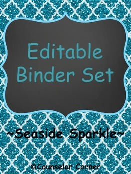 Seaside Sparkle Editable Binder Set