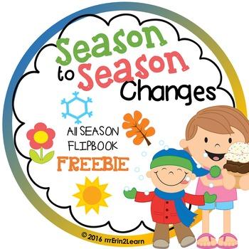 Season Review Flipbook Fall Winter Spring Summer Kindergarten