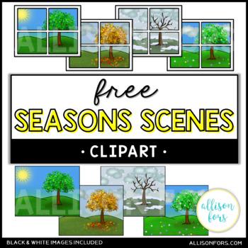Seasons Scenes Clip Art
