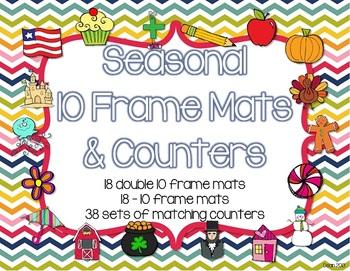 Seasonal 10 Frame Mats and Counters
