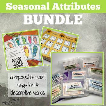 Seasonal Attributes Game BUNDLE: Compare/Contrast (with a Cariboo option!) by Activity Tailor