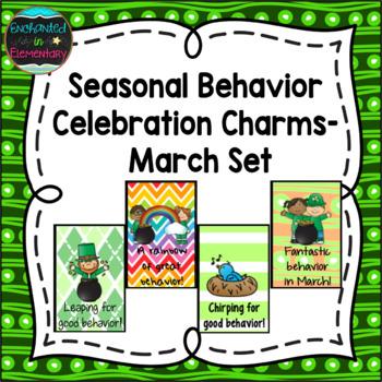 Seasonal Behavior Brag Tags- March Set