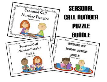 Seasonal Call Number Puzzle Bundle