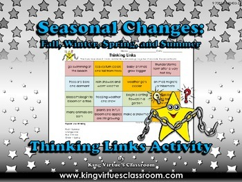 Seasonal Changes: Summer, Fall, Winter, and Spring Thinkin
