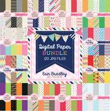 Seasonal Digital Paper Bundle - Holiday Graphics