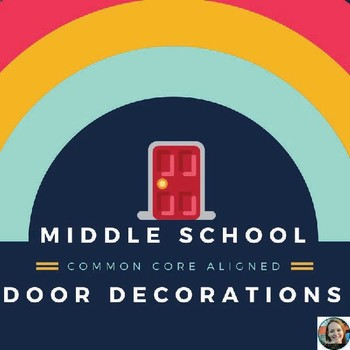 Seasonal Door Decorations for Middle School-Common Core Aligned!
