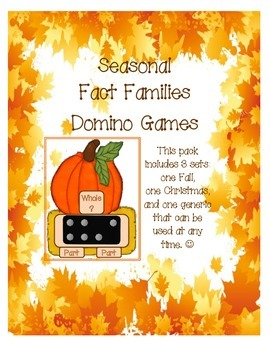 Seasonal Fact Families Domino Games
