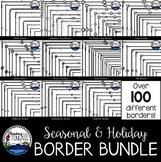 Holiday Skinny Borders Clip Art MEGA Bundle