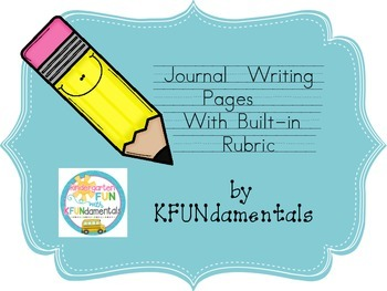 Seasonal Journal Writing Pages With Rubric Great for TK, K