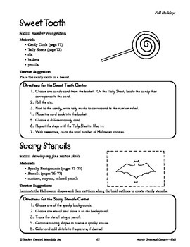 Seasonal Learning Centers--Fall Holidays